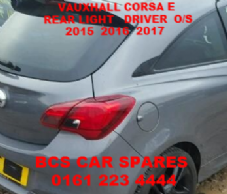 VAUXHALL CORSA  E  REAR LIGHT DRIVER SIDE      2015  2016  2017     ( 3   DOOR MODEL ONLY )   USED